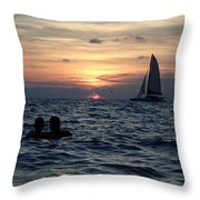 A Perfect Days End Throw Pillow