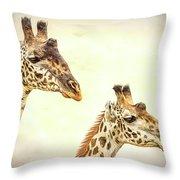 A Perfect Pair- Masai Giraffe Throw Pillow