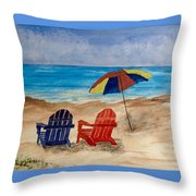 A Perfect Setting Throw Pillow