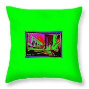 A Peter Max City Throw Pillow