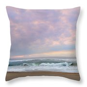 Panoramic Photograph Of A Peaceful Sunrise At Lake St Lucia In South Africa Throw Pillow