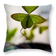A Piece Of Luck Throw Pillow