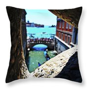 A Piece Of Venice Throw Pillow