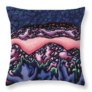 A Pink Line At Night Throw Pillow by Dale Beckman
