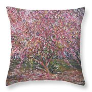 A Pink Tree Throw Pillow