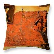 A Pirates Map Room Throw Pillow