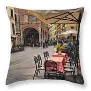 A Pisa Cafe Throw Pillow