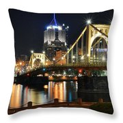 A Pittsburgh Panorama Throw Pillow