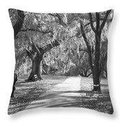 A Place For Contemplation - Black And White Throw Pillow