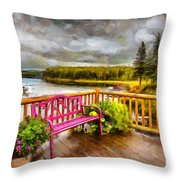 A Place To Relax And Enjoy Throw Pillow