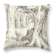 A Place To Rest In The Trees Throw Pillow