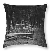 A Place To Sit 6 Throw Pillow