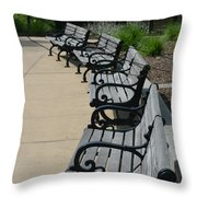 A Place To Sit Throw Pillow