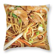 A Plate Of Noodles Throw Pillow