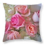 A Plate Of Roses Throw Pillow