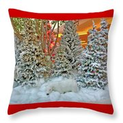 A Polar Bear Christmas Throw Pillow
