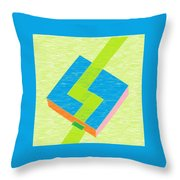 A Pool And A Path Throw Pillow
