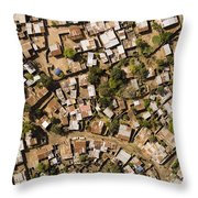 A Poor Neighborhood In Urban Maputo Throw Pillow