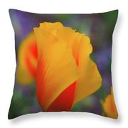 A Poppy Furled  Throw Pillow