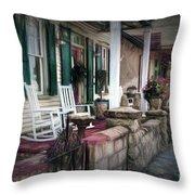 A Porch On The Bay Throw Pillow