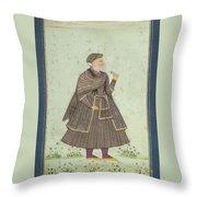 A Portrait Of A Deccani Nobleman Throw Pillow
