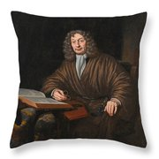 A Portrait Of A Gentleman In His Study Throw Pillow