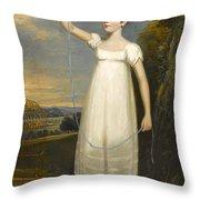 A Portrait Of Ellen Smith Of Nottingham Throw Pillow