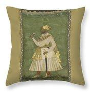 A Portrait Of Farhad Khan Throw Pillow