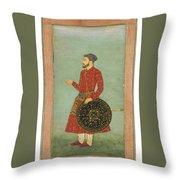 A Portrait Of Khan Zaman Throw Pillow