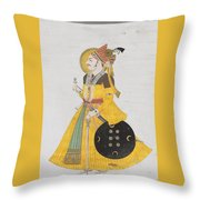 A Portrait Of Maharana Throw Pillow