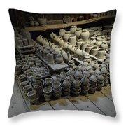 A Potter's Storehouse Throw Pillow