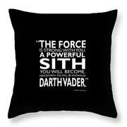 A Powerful Sith Throw Pillow