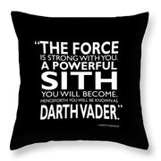 A Powerful Sith Throw Pillow