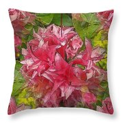 A Prediliction For Pink Throw Pillow