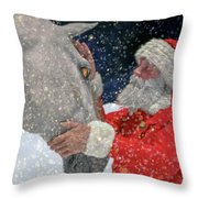 A Present For Santa Throw Pillow