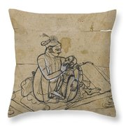 A Prince With His Mistress Throw Pillow