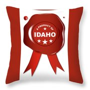 A Product Of Idaho Throw Pillow