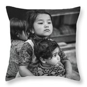 A Proud Sister Bw Throw Pillow