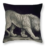 A Prowling Tiger Throw Pillow