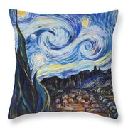 A Pueblo Starry Night Throw Pillow