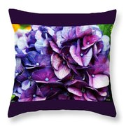 A Puff Of Purple Throw Pillow