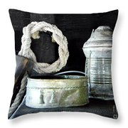 A Pulley And A Lamp Throw Pillow