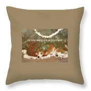 A Puppy For Christmas Quote Throw Pillow