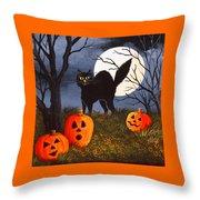 A Purrfect Halloween Throw Pillow