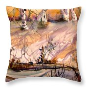 A Quiet Light Throw Pillow by Mindy Newman