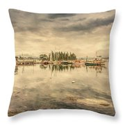 A Quiet Little Harbor Throw Pillow