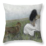 A Quiet Moment On The Vineyard Throw Pillow by Wayne King