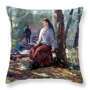 A Quiet Season Throw Pillow