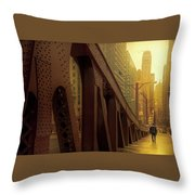 A Quiet Sunday Morning In Chicago Throw Pillow