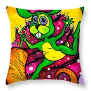 A Rabbit In Space Throw Pillow